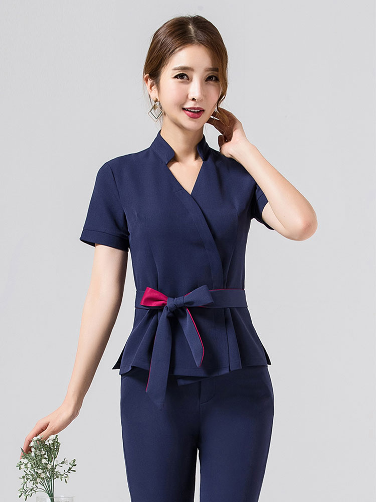 Spa Uniform For Beauty Salon For The Cosmetologist Thai Massage Smocks For Work Beauty Uniforms Foot Bath Technician Costume