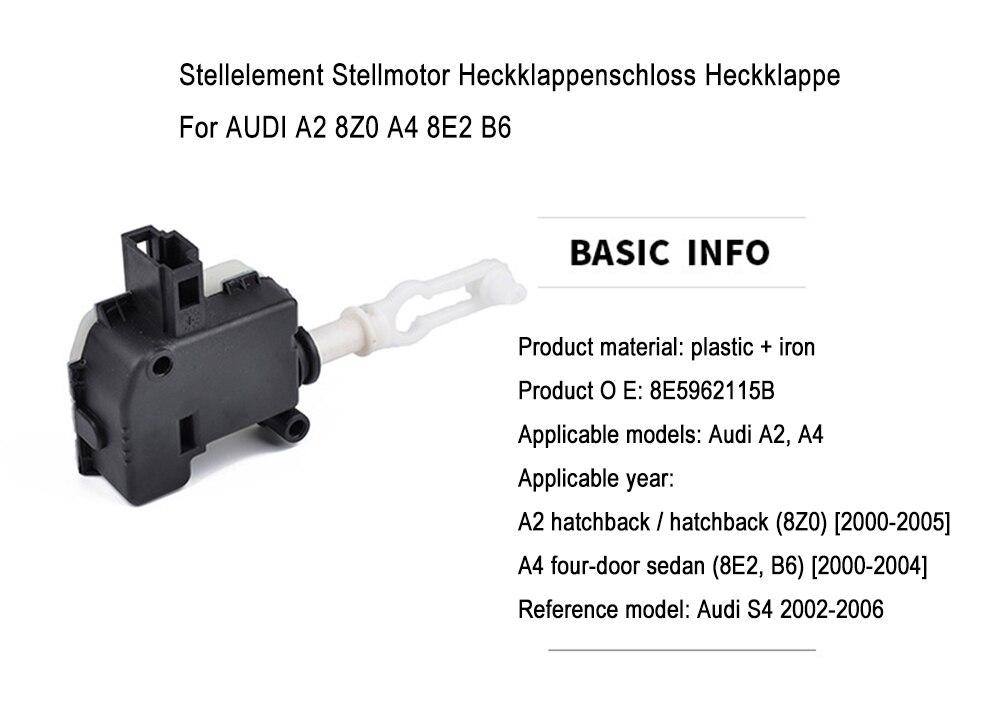 Original Audi Stellelement Stellmotor Heckklappenschloß A2 A4 8E 8E5962115B