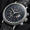 Роскошные деловые мужские часы  мужские часы с ремешком из искусственной кожи высокого качества  Классические повседневные кварцевые мужс...