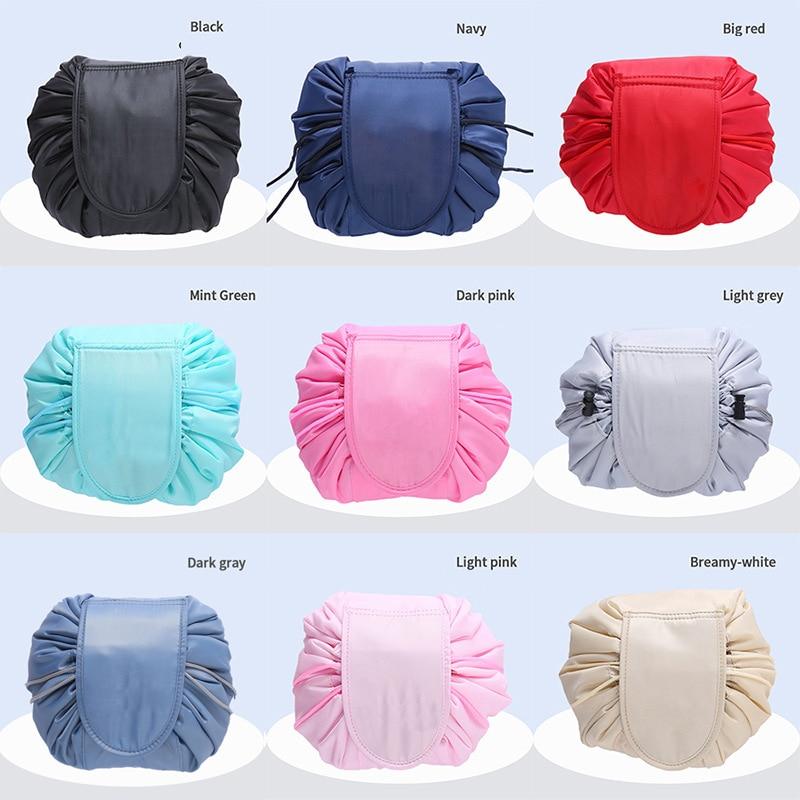 Waterproof Women Drawstring Travel Cosmetic Bag Makeup Bag Organizer Make Cosmetic Bag Case Storage Pouch Toiletry Box