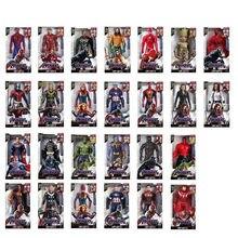 30CM Marvel zabawka Avenger Endgame dźwięk LED Light superbohater Thor Hulk Iron Man Model postaci zabawki lalki Kid BoyGirl prezent