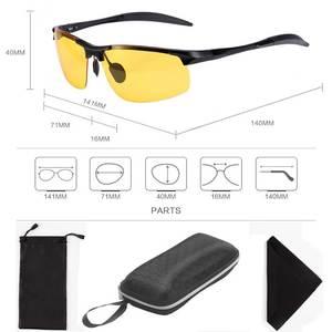 Image 5 - NALOAIN 나이트 비전 안경 포토 크로 믹 선글라스 옐로우 편광 렌즈 UV400 운전 고글 드라이버 스포츠 남성 여성용