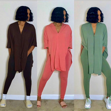 Pants Set Outfit Two-Piece-Set Women Clothing Plus-Size Matching-Sets And for 3xl Top