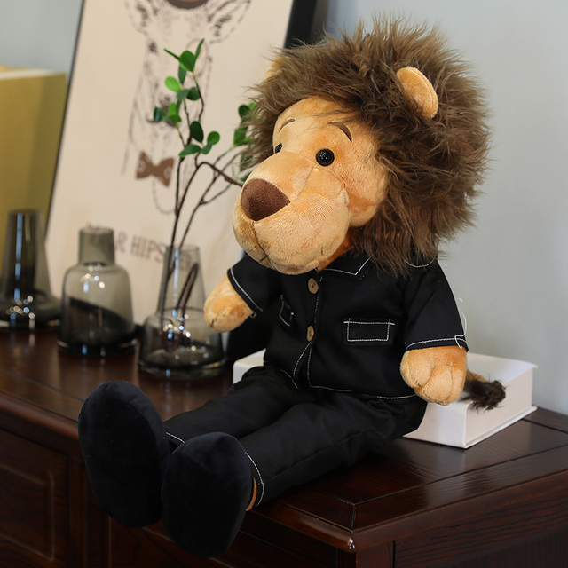 Male Lion Plush Toys Figure Action Toy Soft Stuffed Animals Big Lion Lion Doll for Children Gifts 50/65/90/125cm