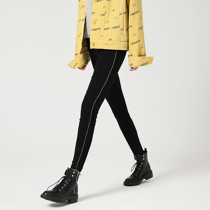 Toyouth Autumn New Black Leggings Outwear Thin Casual Pants Slim Thins Pencil Pants