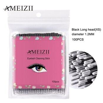 100pcs Disposable Colorful Cotton Swabs graft Eyelash Brushes Cleaning Swab Eyelashes Remover Tattoo Microbrush Kit clean up