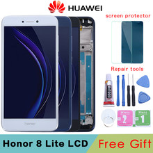 Huawei Honor 8 Lite LCD Display Touch Screen Digitizer Assembly For Huawei Honor 8 Lite LCD With Frame PRA TL10 LX1 LX3 Screen(China)