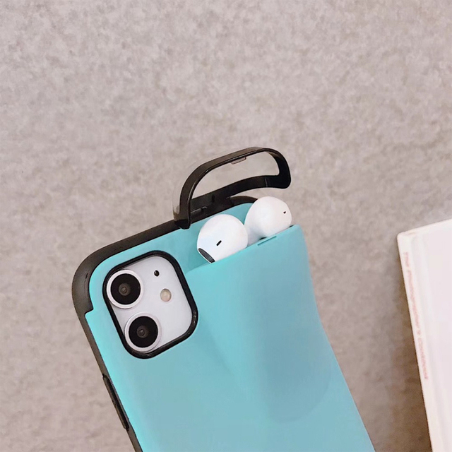 Fashion New design 2in1 phone case For iPhone 11 Pro Max XS Max XR 7 8 6 6S Plus Hard cover with Earphone case For AirPods Case 3