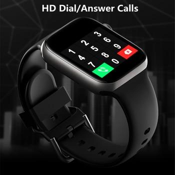 Smart Watch Men Smartwatch Women Dial Call Watch Waterproof Fitness Tracker Music Control 2021 For Iphone Xiaomi Huawei IWO+gift 1