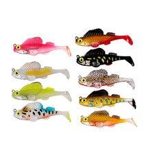 Рыболовная приманка, 7 см, 14 г, свинцовая головка, Мягкая приманка, плавающие приманки, прыгающие рыбы, темное спальное место, джиг, весло для рыбалки, хвост, щука, окуня, приманка