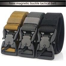 Cinturones militares Airsoft 1200D para hombre, cinturón táctico de nailon de liberación rápida, ajustable, para entrenamiento de caza