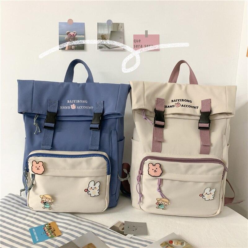 Female Student School Bags Cute Cover School Backpacks for Girls Ins Japanese Backpack Women Harajuku New Ladies Bookbag Kawaii