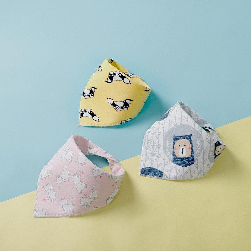 Бандана-нагрудник из хлопка, детская одежда для кормления, треугольная слюнявчик для младенцев, мультяшное слюнявчик, аксессуары для кормления младенцев, детские вещи 4