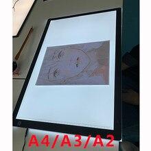 A4/a3/a2 desenho tablet wacom digital gráfico tablet led pintura diamante placa de almofada de luz portátil para o visualizador de filme de raio x
