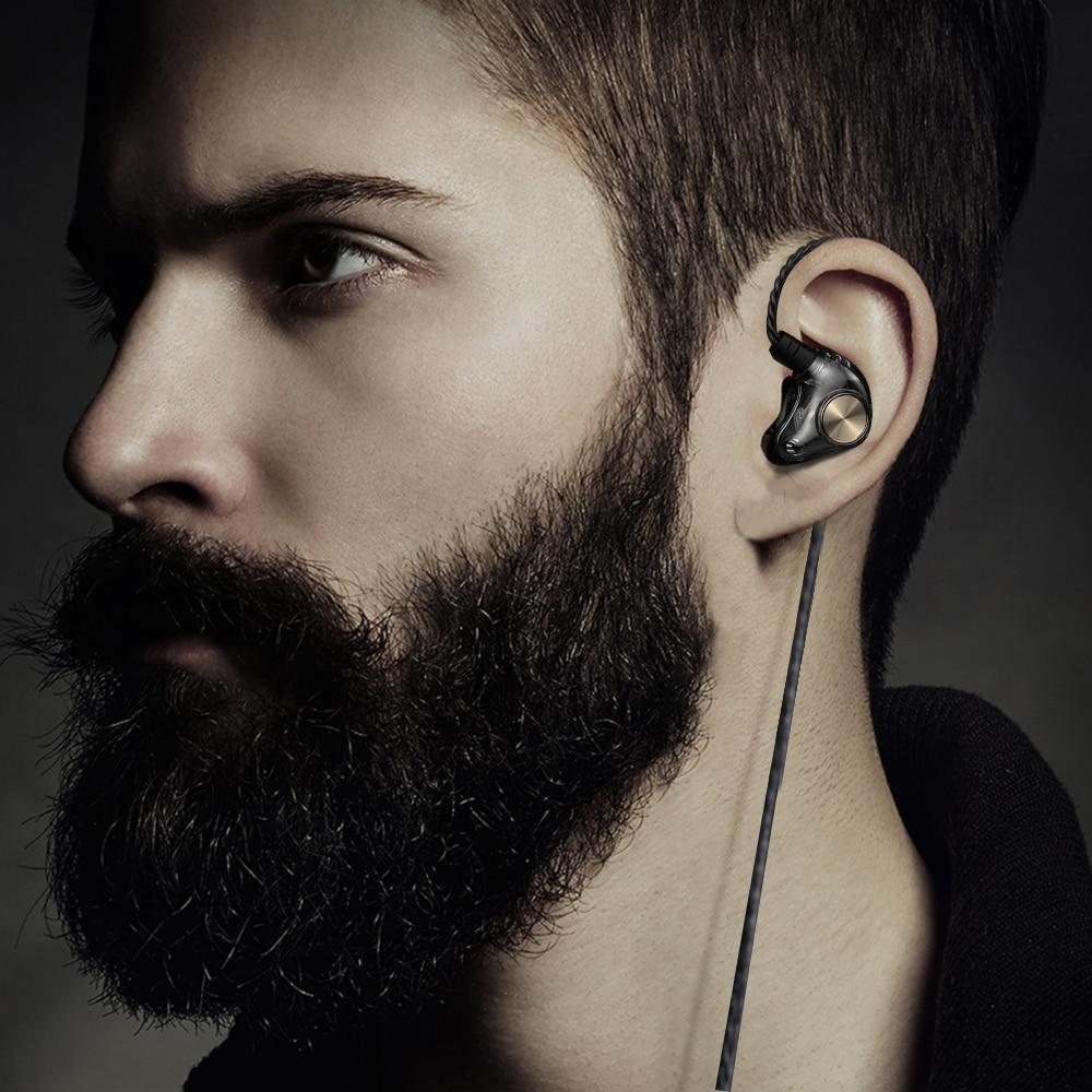 Căști cu fir AZiMiYO HK1 3.5mm hibride HiFi DJ căști stereo - Audio și video portabile - Fotografie 2