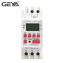 Free Shipping GEYA THC-15A Din Rail Digital Time Switch Weekly Programmable Timers 16A 12V 24V 110V 220V 240V