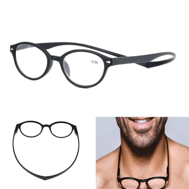 Unisex Magnet Reading Glasses Men Women Adjustable Hanging Neck Magnetic Presbyopic Eyeglasses +1.0 To +3.5