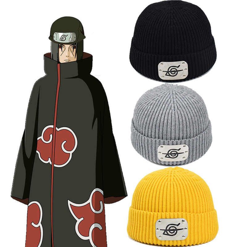 Naruto Akatsuki Uchiha Itachi Anime Hat Cosplay Costume Props Unisex Fashion Hats Hip Hop Winter Beanie Caps Aliexpress