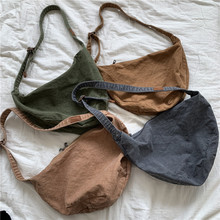 Designer-Bags Dumplings Shoulder-Crossbody-Bag Half-Moon Purse Canvas Fashion Women Lady