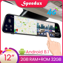 цена на 12 Inch 4G Car DVR ADAS Dash Cam Android 8.1 GPS WiFi HD Video Car Rearview Mirror Auto Recorder Car Mirror Video Dash Camera