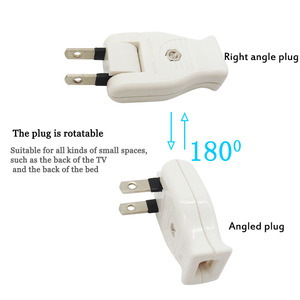 Image 4 - Japanese plug Butt Electrical Plug Socket Power Connector Cable Cord Female Male Converter Adaptor 15A 125V Pure cupper plug
