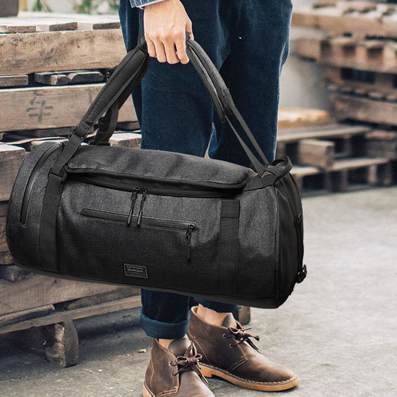 Men Big Travel Bag Canvas Hand Luggage Oxford Unisex Waterproof Travel Bags Women Luggage Backpack With Shoe Pouch