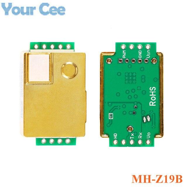 MH Z19 MH Z19B MH Z19C MH Z19C Infrarot CO2 Sensor für CO 2 Monitor Kohlendioxid Gas Sensor Modul 0 5000ppm UART PWM ausgang