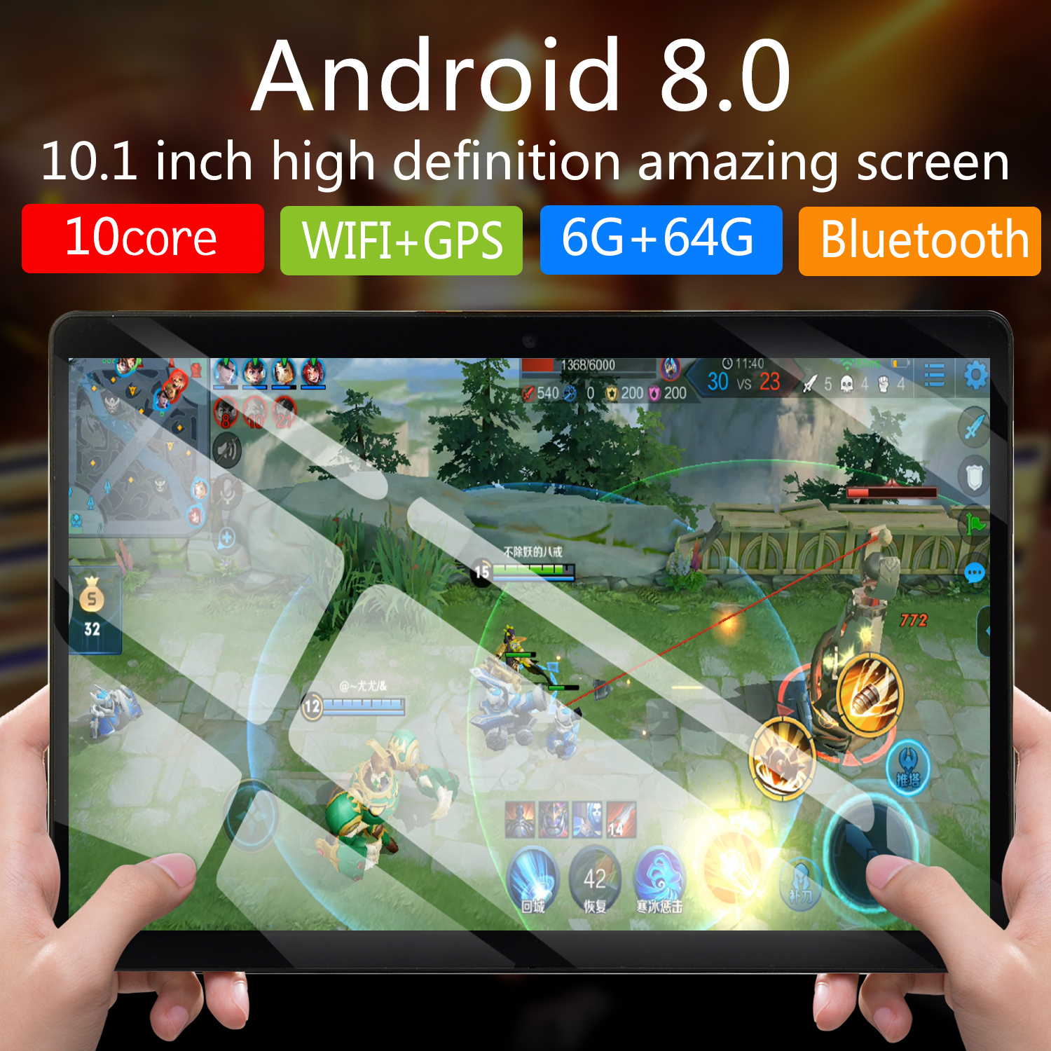 Tablette Phablet 10 Tablet Screen Mutlti Touch Android 9.0 Octa Core Ram 6GB ROM 64GB Camera Wifi 10 Inch Tablet 4G FDD 2020