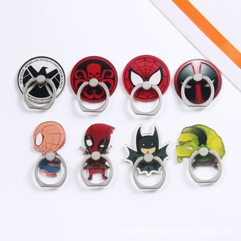 Universal Metal Hot Finger Ring Mobile Cell Phone Cute Cartoon Phone Holder Stand For IPhone XS MAX XR Bracket Holder