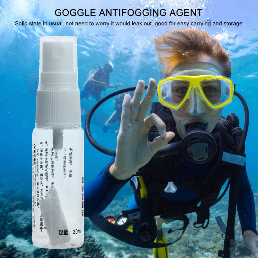1pcs Defogger Solid State Defog Anti Fog Agent For Swim Goggle Glass Lens Diving Mask Cleaner Solution Antifogging Spray Mist