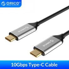 كابل USB 3.1 من ORICO من النوع C إلى النوع c كابل 10 Gbps 5A للشحن السريع كابل من النوع c للهاتف المحمول جهاز كمبيوتر محمول Macbook Matebook