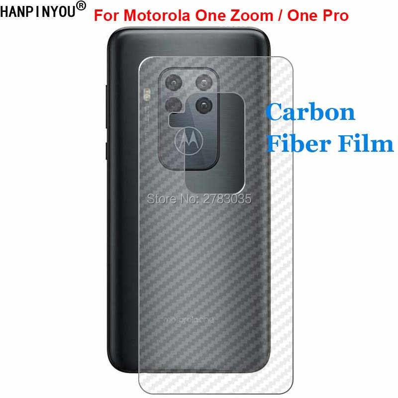 """Motorola One Zoom/bir Pro 6.39 """"dayanıklı 3D anti-parmak izi karbon Fiber arka ekran koruyucu film (değil temperli cam)"""