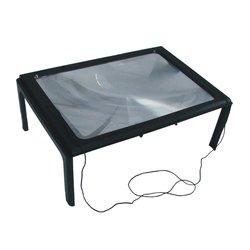 A4 pełna strona duży 3X tabeli wolne ręce biurko składane szkło powiększające lupa do czytania do szycia szkło do czytania|Lupy|   -
