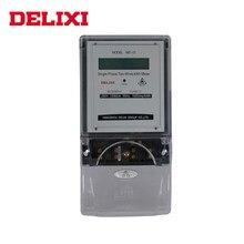 Medidor de energia de potência de delixi kwh wattmeter display lcd 220v 10a 60a monofásico 2 fios elétrico medidor de energia ca
