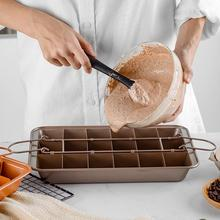 Kitchen 18 Grid Cake Mold Non-stick Cake Baking Tray Household Square Bread Baking Tools Brownie Cake Mold With Split Slice 500pcs round 1000pcs square steamed bun papers non stick household snack bread cake steamer oil paper pads