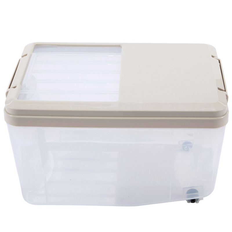 NHBR-5L Household Rice Bucket Moisture-Proof Insect-Proof Sealed Rice Bucket Flour Bucket Storage Box Rice Cylinder For Home Kit