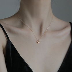Geometric New Round Circle Clavicle Chain Necklace for Women Best Gifts Jewelry Link Chain Birthday Metal
