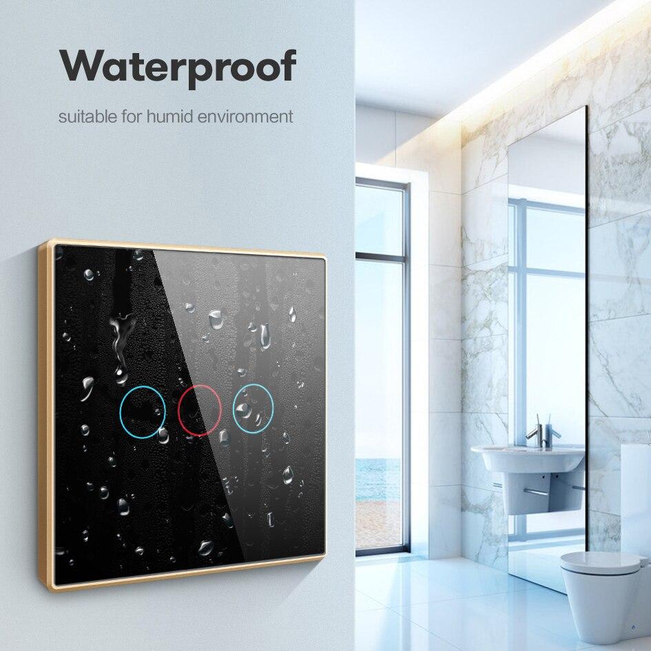 AVATTO Tuya Wifi переключатель, умный настенный выключатель с металлической рамкой, стеклянная панель ЕС 1/2/3 банды умный дом работает с Alexa, Google Home