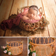 Newborn photography props basin frame container studio photography woven basket baby photography auxiliary props shooting