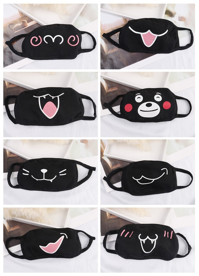 1PC Kawaii Anti Dust Mask Cotton Mouth Mask Cute Unisex Cartoon Mouth Muffle Kpop Face Mask Korean Bear Masks