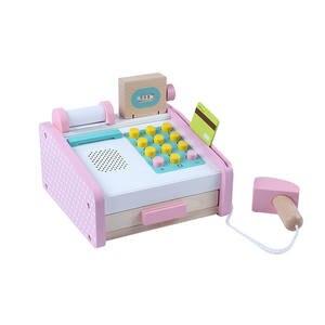 Toy-Kit Simulation Play-Set Wooden Pretend Kids Children Supermarket Cash Register Learning-Resources