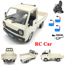 WPL D12 1/10 4WD RC Car Simulation Drift Truck Brushed 260 motor Climbing Car LED Light On-road RC Car Toys For Boys Kids Gifts