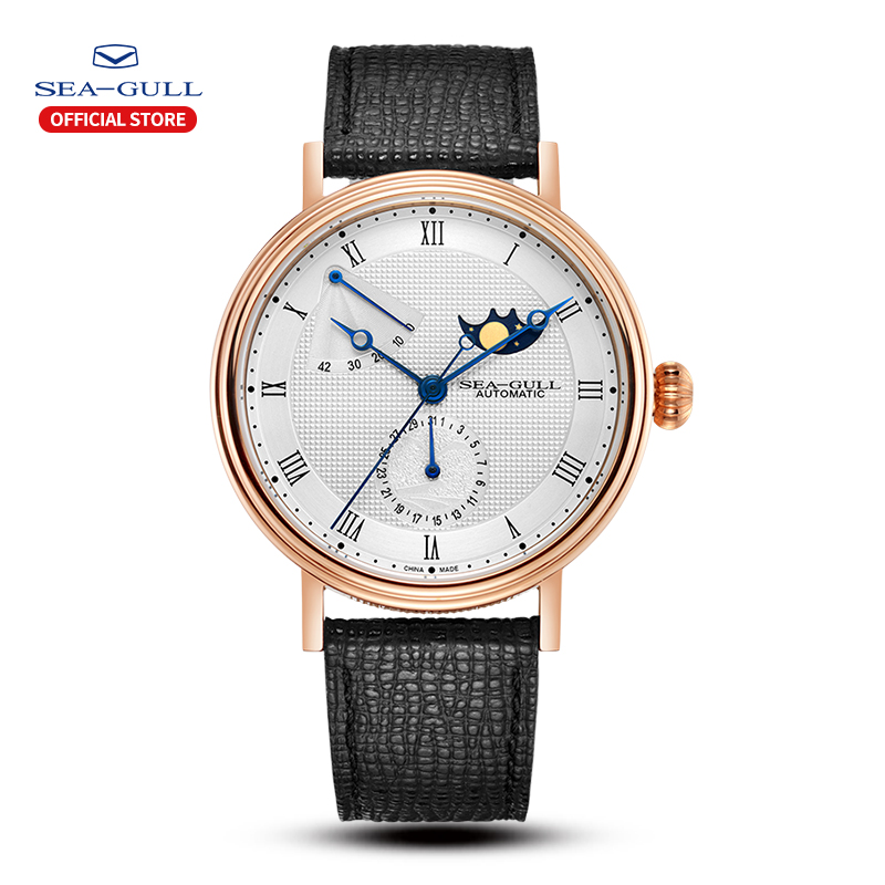 Seagull, reloj automático para hombre, relojes automáticos de fase lunar para hombre, reloj para día y fecha, reloj para hombre 2019, reloj de diseño 819.11.6092