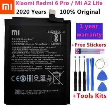 2020 Years Original 4000mAh BN47 Replacement Battery For Xiaomi Redmi 6 Pro / Mi A2 Lite Bateria Batterie Mobile Phone Batteries