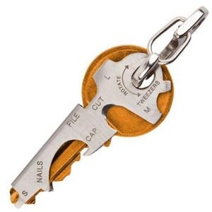 8 in 1 Multi Tool Key Stainless Steel Outdoor Multi-functional Tool Utility Multi Ring Chain Bottle Opener Survival Tool
