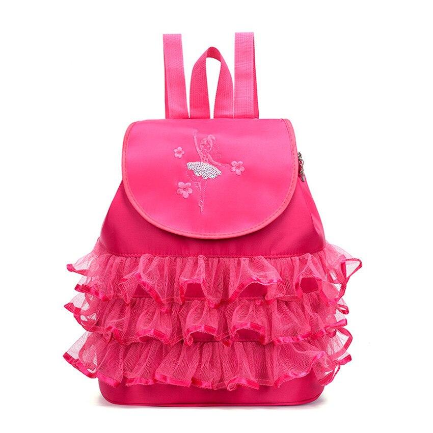 Personalised Womens Girls Kids Ballerinas Dance Shoulder Bag Pink Uniform Gym