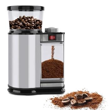 Młynek do kawy Espresso młynek 110V 220V elektryczny młynek do mielenia ziaren kawy włoski młynek do kawy 9 plików regulowana grubość 120W tanie i dobre opinie Donlim Coffee Grinders Szlifierek zadziorów (płaskie koła) STAINLESS STEEL Elektryczne coffee bean grinder Electric Coffee Grinder