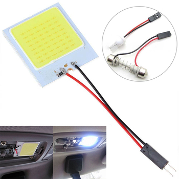 Auto LED House Lamp COB Lamp Board T10 W5W 18 24 36 48SMD Lamp Led Roof Lamp icense Panel Lamp Auto Interior Reading Bulb image