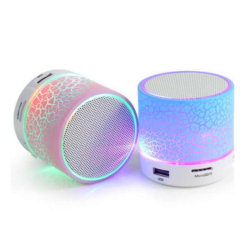 Mini Bluetooth Speaker Colorful Led Portatile Mini Altoparlante Senza Fili Lettore USB Radio Fm Mp3 Musica Suono Colum Applicabile per PC