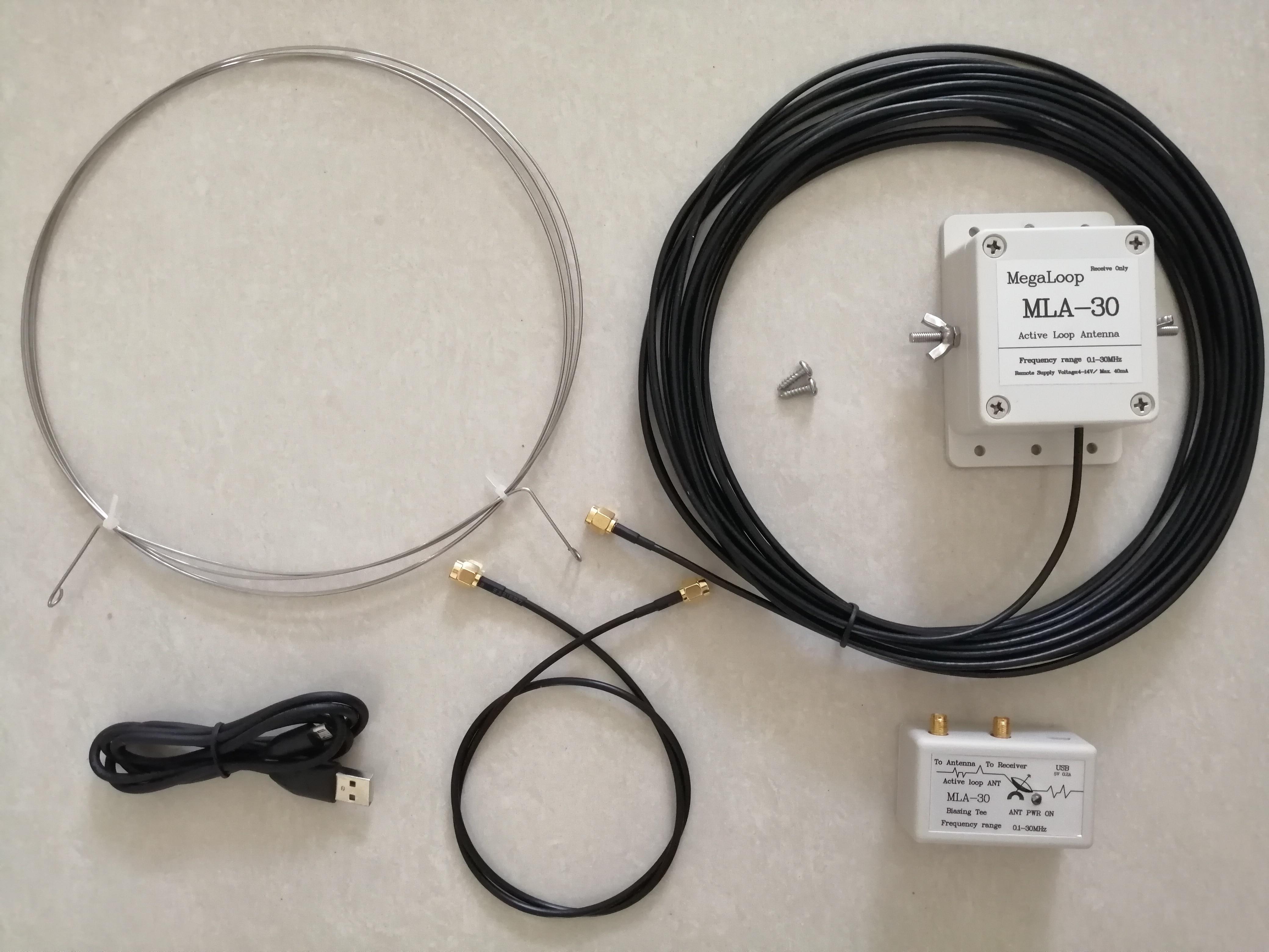 Free Shipping MLA-30 Active Loop Antenna Active Receiving Antenna 100KHz-30MHz For Medium Wave Shortwave HF Radio